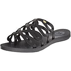 Zaxy Women's Infinty Jelly Sandal, Black, 9 M US