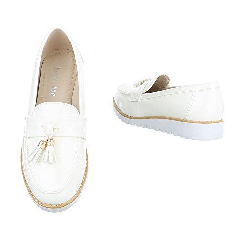 Ital-Design - Zapatillas de casa Mujer Weiß 62050