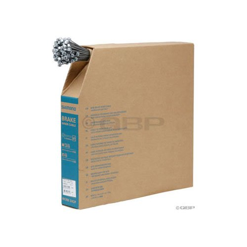 Shimano Zinc MTB Brake Cable Box of 100 (1.6x2050mm) by Shimano