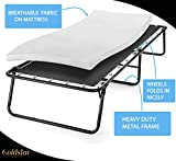 Large Rollaway Folding Guest Bed with 3-Inch Memory