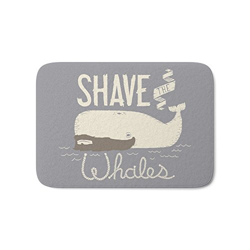 """Society6 Shave The Whales Bath Mat 21"""" x 34"""""""