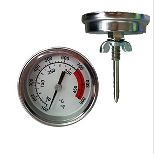 YJINGRUI Household Thermometers Stainless Steel Lock Type High Temperature BBQ Barbecue Oven Thermometer