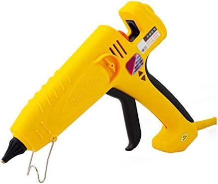QL ホットメルトグルーガン、DIY手動修復に使用500W、400W、300W温度グルーガンプロのハイパワー、子供の大人の家族の芸術の創造、黄色 ホットメルトグルーガン (Color : 300W)