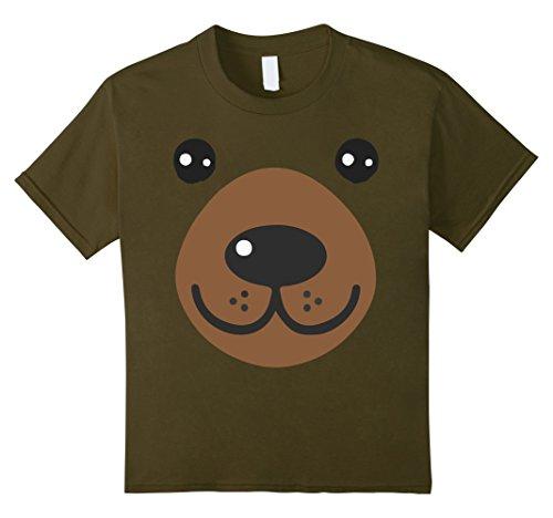 Infant Green Olive Costume (Kids Baby Bear Costume Shirt - Bear Face Halloween Tee 12 Olive)