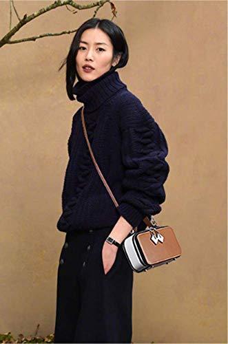 Mini donne D Circlefly per in a borsa di fotocamera colore quadrato contrasto a Borsa pelle tracolla per ZwaHZ4qE