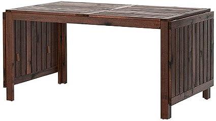 IKEA APPLARO, mesa de hoja gota, marrón