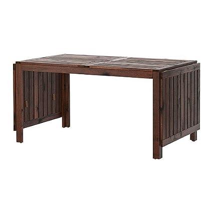 Amazon Com Ikea Applaro Drop Leaf Table Brown Tables