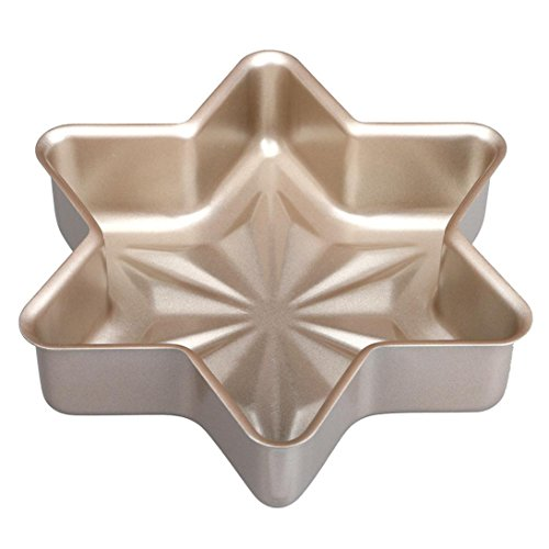ChainSee Carbon Steel Bread Snowflake Loaf Cake Bun Mold Non Stick Bakeware Baking Pan Oven Rectangle Mould (Snowflake)