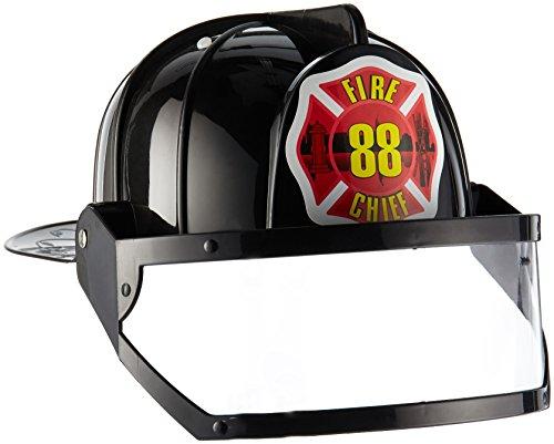 (Forum Novelties Men's Novelty Deluxe Fire Hat, Black, One Size )