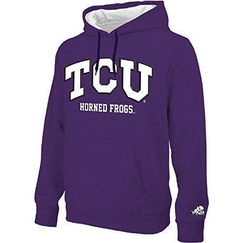 TCU Horned Frogs Arched Men's Hoodie Sweatshirt-Purple