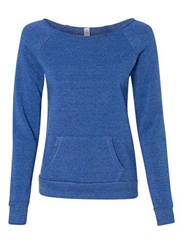 (Alternative womens Maniac Eco-Fleece Sweatshirt X-Large Eco True Pacific Blue)