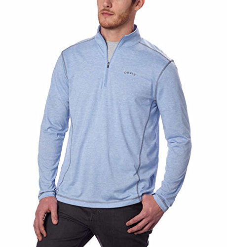 Men's Orvis Sandy Point 1/4 Zip Pullover (X-Large, Demin/Navy)