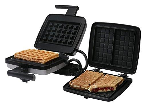 Croquade U11001 Belgian Waffle Maker Bundle, includes Belgian Waffle Plate and Stuffed Waffle Plate by CROQUADE