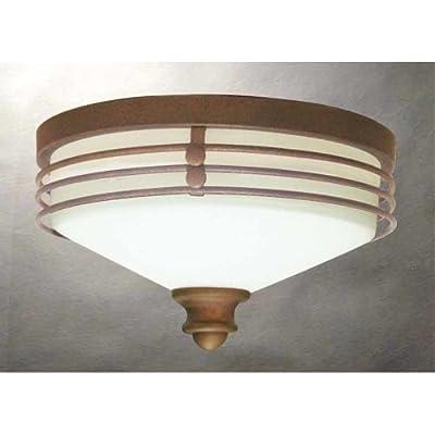 Volume Lighting V7352 Avila 1 Light Flush Mount Ceiling Fixture with White Glass,
