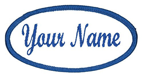 Oval Name Patch, Uniform or Work Shirt, Personalized, Embroidered (Oval Cap Patch)