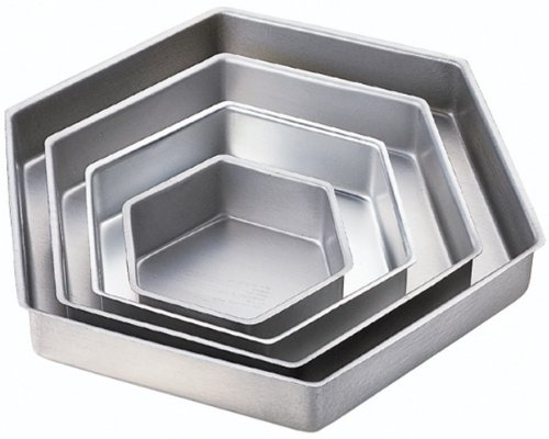 Performance Cake Pans 4/Pkg-Hexagon 6, 9, 12 & 15