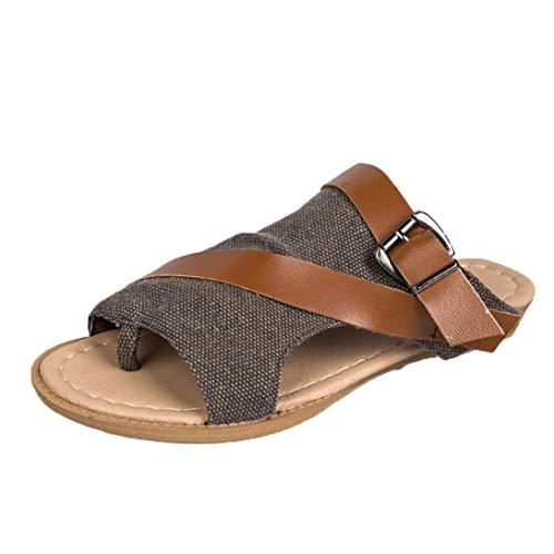 Price comparison product image CieKen Women Shoes Clearance Gladiator Back Zip Closure Moderate Heels Sandal (2-Coffee,  7.5 B(M) US)