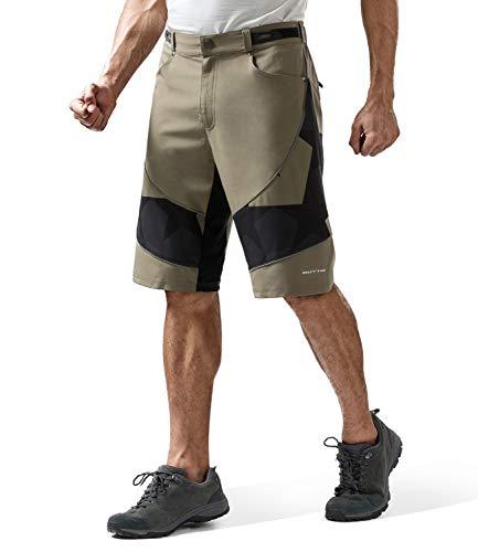Outto Men's Bike Shorts Mountain Biking Bicycle MTB Downhill Casual Loose Cycling Clothing (29-30, 1820 Khaki)