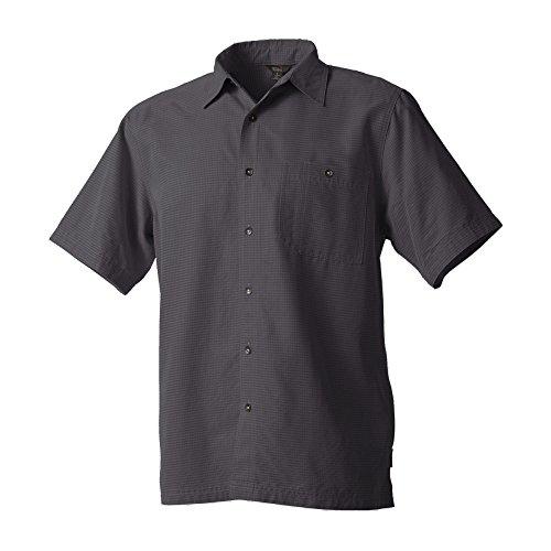 Royal Robbins Men's Mojave Desert Pucker Short Sleeve Button Down Shirt, Obsidian, X-Large