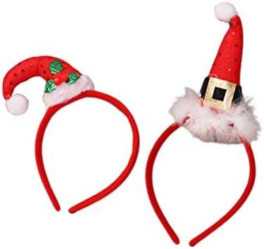 Minkissy 2 stuks kerstrode hoofdbanden kerstman kersthaarbanden aantrekkelijke haarbanden voor Sanktfeest bij voorkeur geschenken