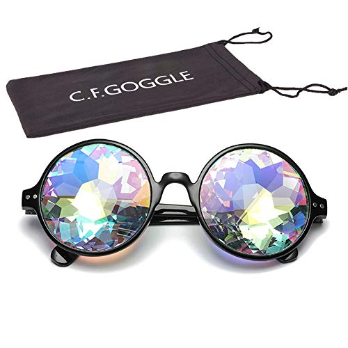 OMG_Shop Kaleidoscope Rainbow Glasses Prism Refraction Goggles for Festivals ()