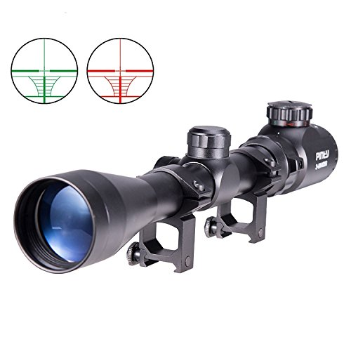 Pinty 3-9X40 Red Green Mil-Dot Illuminated Optical Sniper Rifle Telescopic...