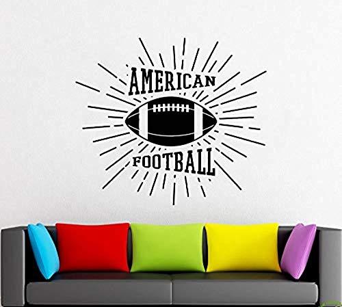 (American Football - Rugby - Game - Ball - Sport -Wall Decor -Wall Decal -Window Sticker -Vinyl Sticker ad 1357)