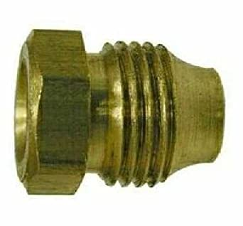 1//8 Size Midland 16-001 Brass Double Compression Threaded Sleeve Nut