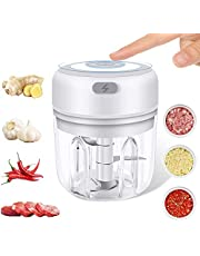 ROYHON Electric Mini Garlic Chopper, Wireless Small Food Processor with USB Charging and Powerful Cutting, Onion Chopper for Vegetables, Fruits,Baby Food, Outdoor Portable Chopper Easy Cleaning.