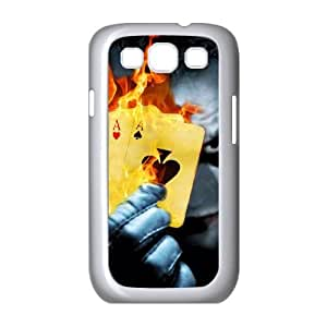 burning poker joker Samsung Galaxy S3 9300 Cell Phone Case White 91INA91158543