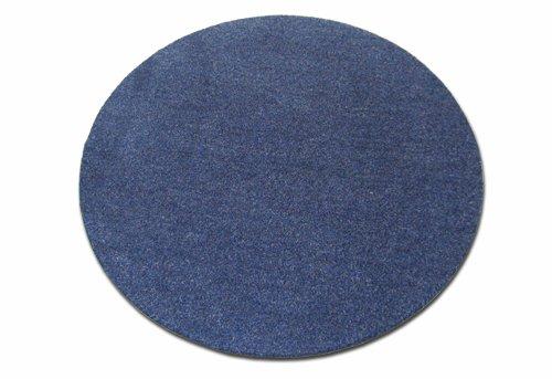 Deko-Matten-Shop Fußmatte Olefin, Schmutzfangmatte, rund, 90 cm Durchmesser, grün, in 15 Größen und 5 Farben B075ZQNZYK Fumatten
