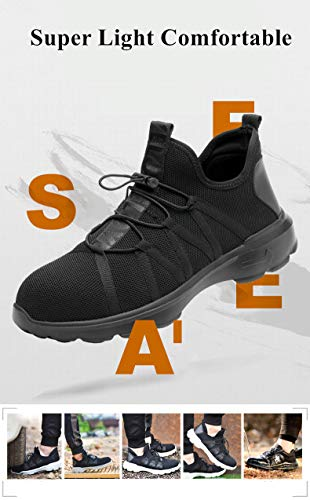 Summer Breathable Men Safety Shoes Steel Toe Work Safety Boots For Men Wear-resisting Fashion Safety Work Shoes by AiKim (Image #3)