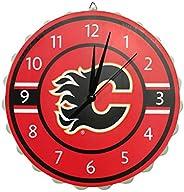 Calgary Flames NHL Bottle Cap Wall Clock