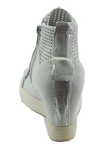 Zapatillas para Ghiaccio Piel ODM118 Blanco CAFèNOIR Ghiaccio blanco de mujer TBwPnqOR