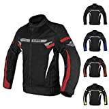 ALPHA CYCLE GEAR BREATHABLE BIKERS RIDING PROTECTION MOTORCYCLE JACKET MESH CE ARMORED (RED SPARROW, X-LARGE)