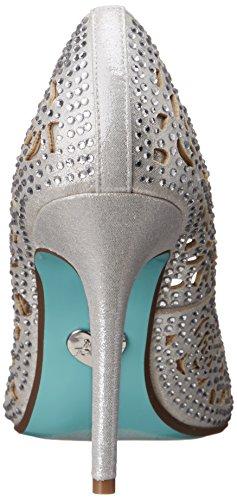 by SB Elsa Silver Fabric Pump Blue Betsey Dress Johnson Women's A1n7EZf
