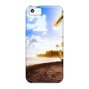 Durable Protector Case Cover With Sensational Seashore Hot Design For Iphone 5c