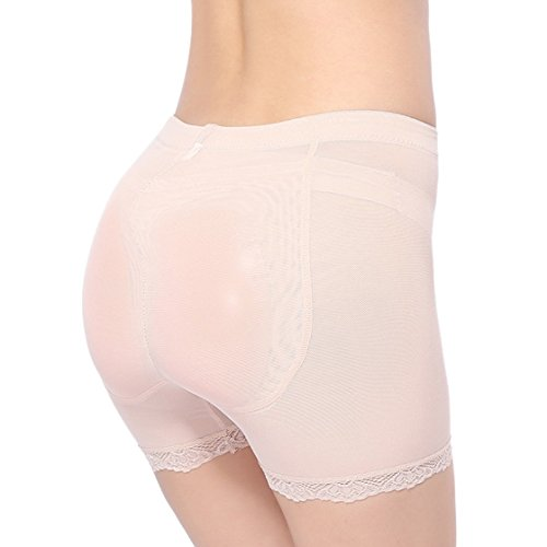 THANKSET Women's Shaper Panty with Silicone Butt Pads Boo...