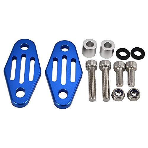 Muffler Exhaust Pipe Hangers Holder Bracket Mount for Yamaha Banshee 350 YFZ350 1987-2004 2005 2006 YFZ350SP YFZ350SE YFZ350LE Blue