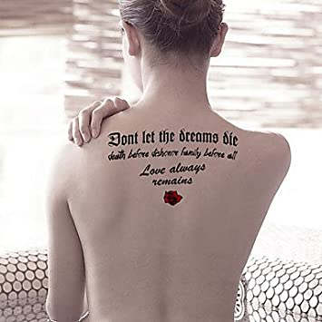 hjlhyl® Moda de grandes sueños de tatuajes??temporaires amor arte ...