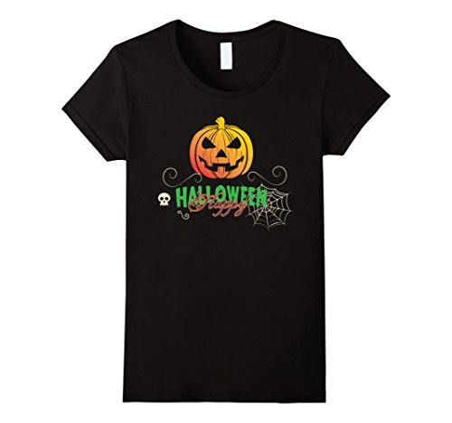 Mother And Son Halloween Costume Ideas (Womens HAPPY HALLOWEEN WITCH PUMPKIN - THIS IS MY HALLOWEEN COSTUME Small Black)