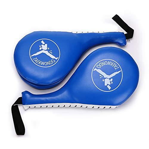(Hipiwe Taekwondo Kick Pad Target Durable TKD Kicking Targets Training Paddles Double Face Tae Kwon Pads (Style 2, Blue,1)
