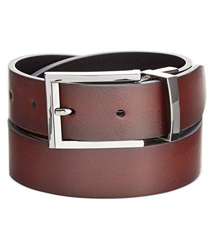 Alfani Mens Feather Edge Belt Brown (Alfani Belt)