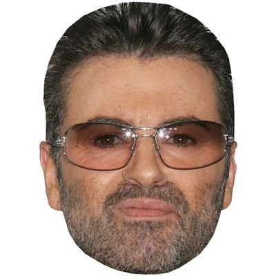 George Michael Celebrity Mask, Cardboard Face and Fancy Dress Mask (Celebrity Face Masks)