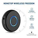 SonRu Bluetooth 4.1 Receiver, Aux Mini Wireless Audio Adapter Portable Hands-Free Car Kits for 3.5mm Audio Devices, TV and Home / Car Stereo Music Streaming Sound System