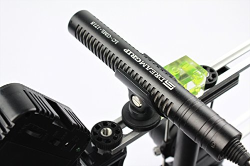 Pointed Gun Interview Microphone with Snap-On Cold Shoe Mount for Any Smartphone with Spring Audio Jack Connector