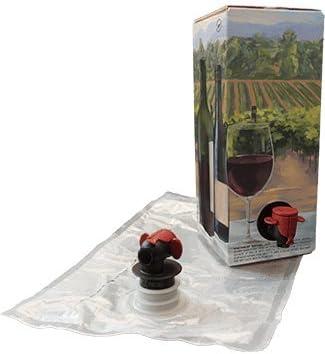 Astropaq - Juego de bolsas de vino tinto en caja [botella de vino ...