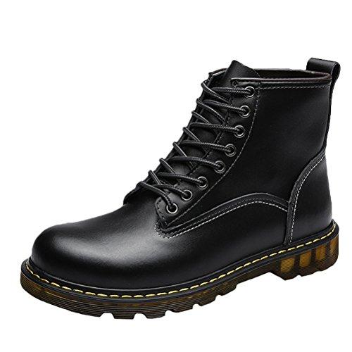 Fleece Schwarz para de Zapatos MatchLife cordones hombre waSSqT