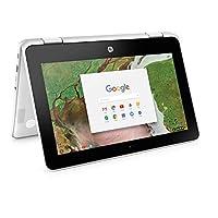 "Newest HP 2-in-1 Convertible Chromebook 11.6"" HD IPS Touchscreen, Intel Celeron N3350 Processor, 4GB Ram 32GB SSD, Intel HD Graphics, WiFi, Webcam, Google Chrome OS-White"