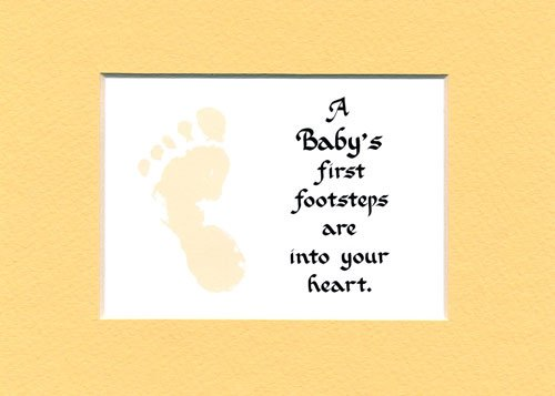 - A Baby's Frist Footsteps Sying Home Dcor Wall Sign